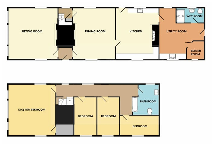 Brook Farm's floor plan