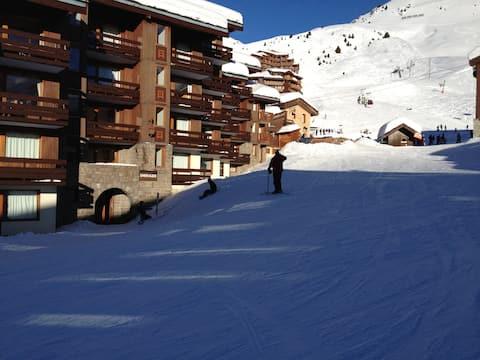 Belle Plagne. Ski aux pieds