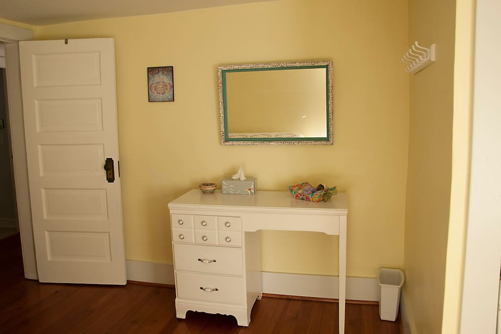 dresser and closet space