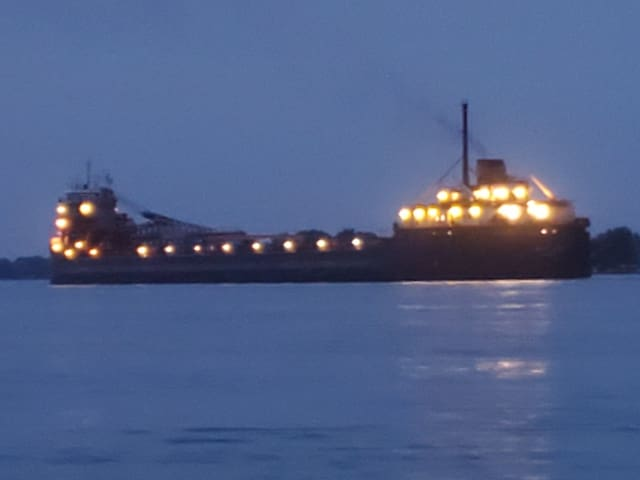 Fall nights, bonfires and freighters!