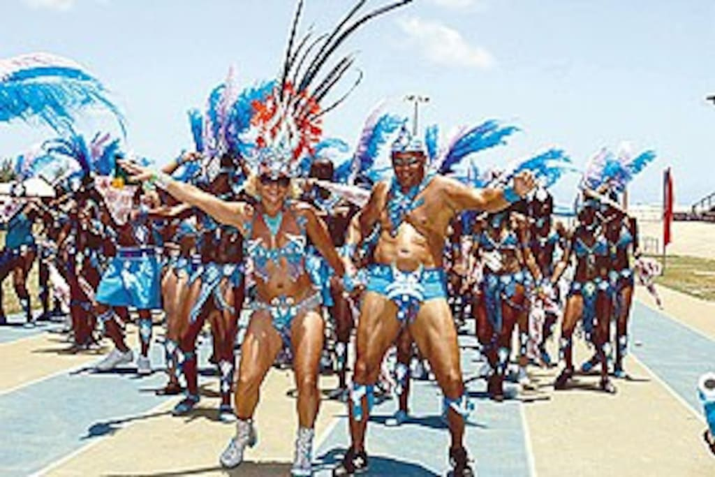 Masqueradors on Kadooment day