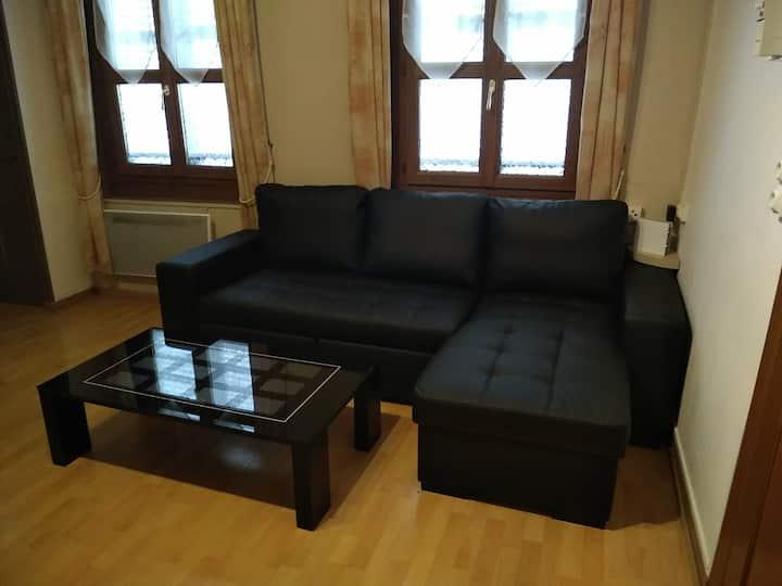 Joli F2 meublé en centre-ville avec Wi-Fi