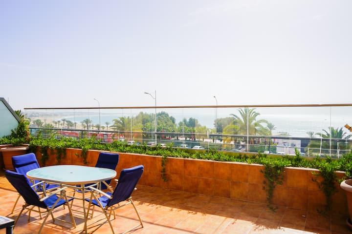 Amazing sea view, large classy apartment in Agadir
