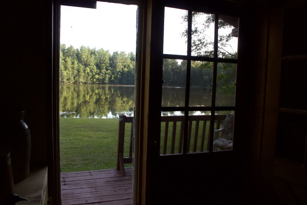 Wake up with a clear view of our private, spring-fed 10-acre lake– just steps from the cottage.