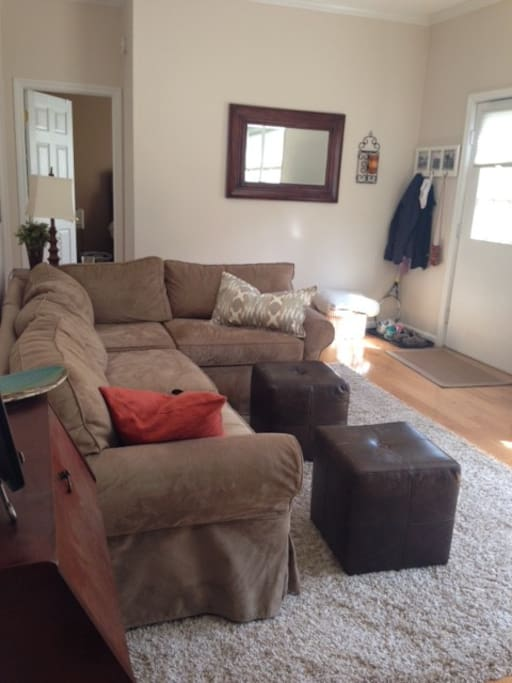 Sectional Couch with pull-out full size bed