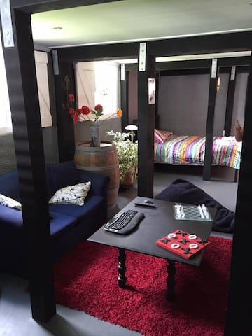 Studio room within house