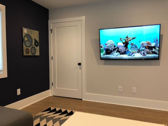 Living room with 4k TV