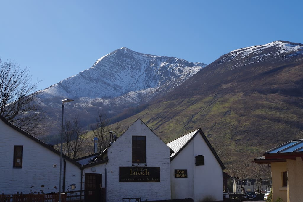 Stunning view of majestic Sgorr Bhan from the front