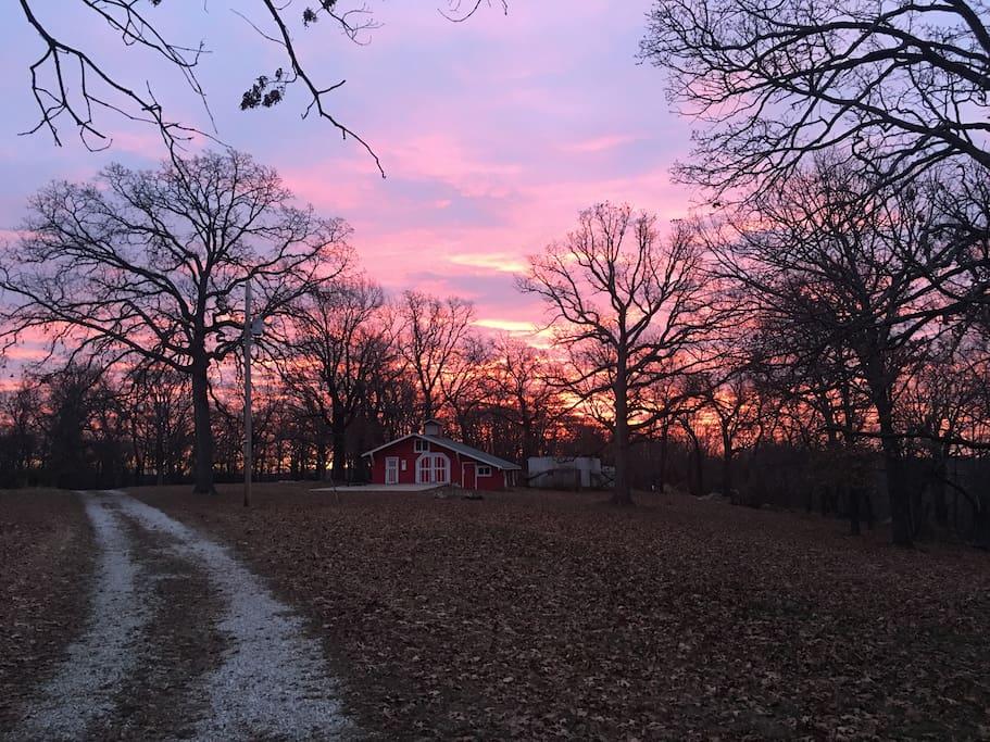 Sunrise over the Barn