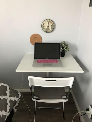 Unfold a desk