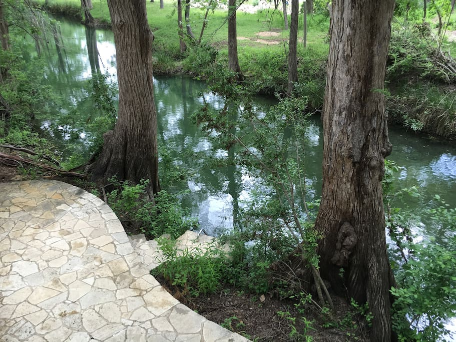 Steps and Ladder into Cypress Creek.