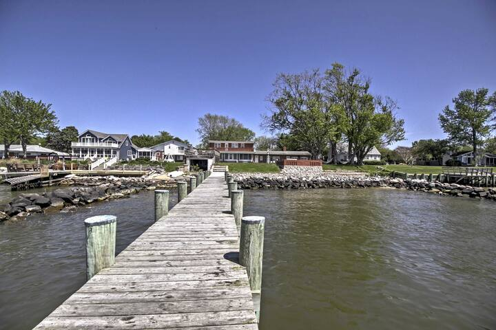 New! Waterfront 5BR Stevensville House w/ Pier!