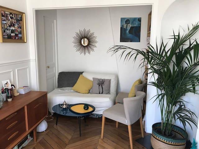 Appartement Parisien 1 à 4 couchages, lumineux