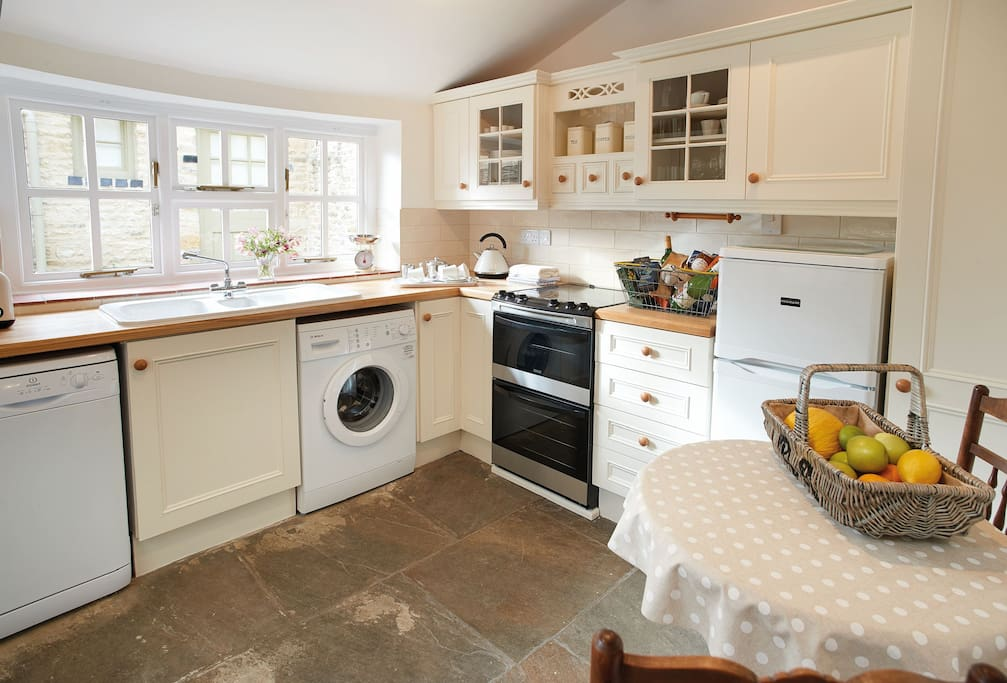 Ground floor: Kitchen with views on to Felltree Cottage's beautiful garden
