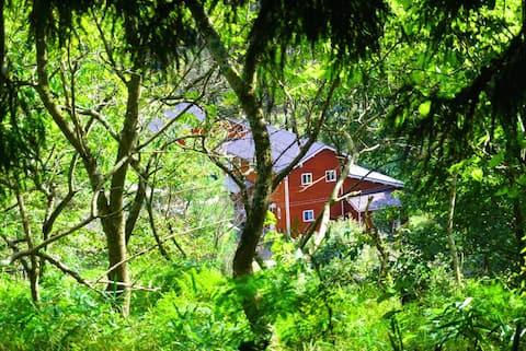 森の中の北欧家 月 星空と山羊と薪ストーブ【Organic life in the forest】