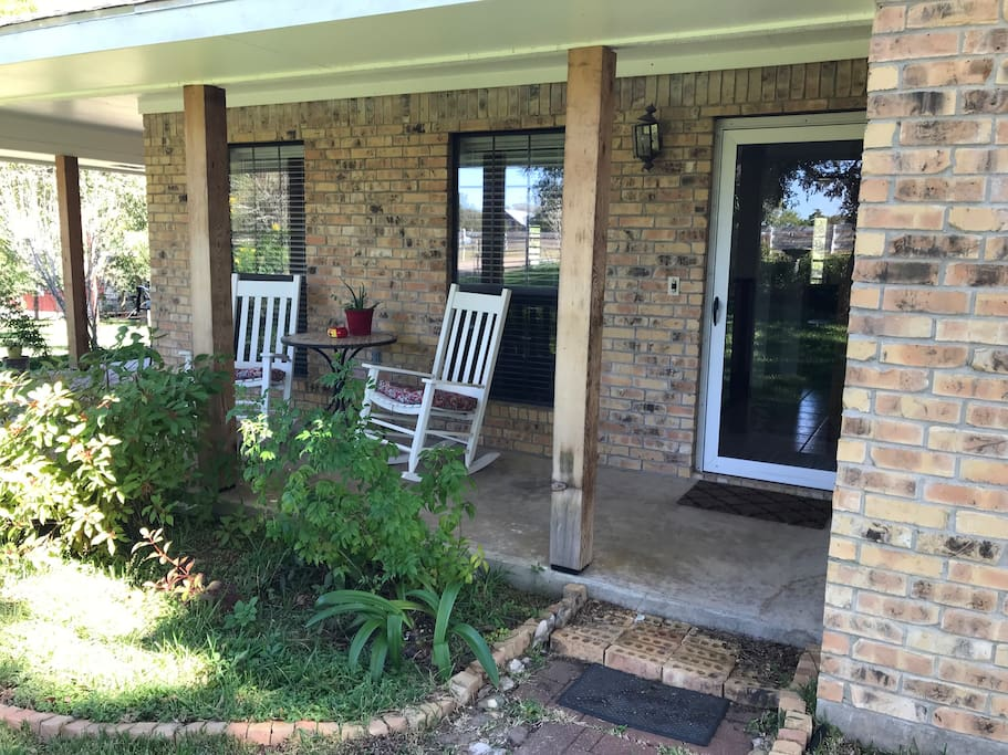 Your private entrance with wrap around porch!