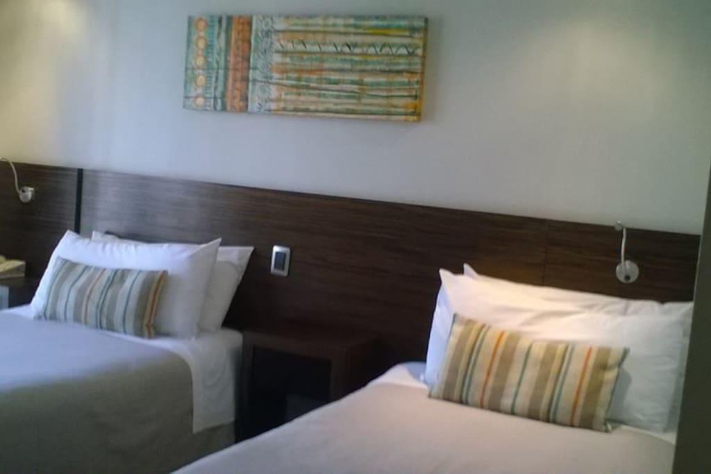 Dos excelente camas hoteleras plaza y media