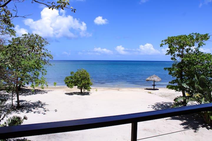 Upscale Beachfront Villa In Private Beach Resort