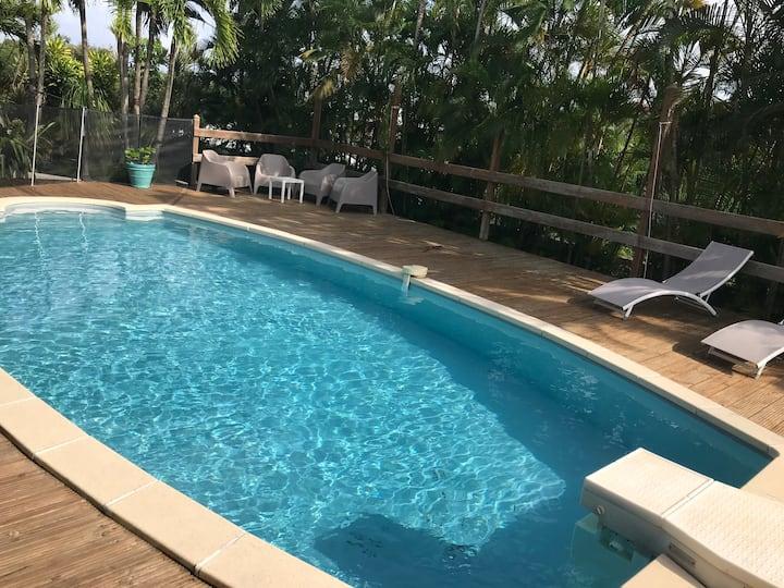 Ti Kaz A Rev - T2 avec piscine privée et plage
