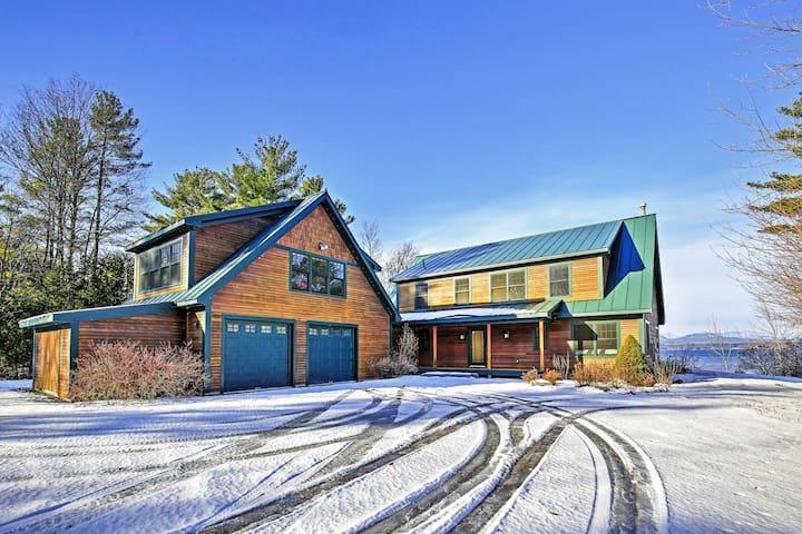 4BR Panton House w/ Lake Views & Fireplace! - Panton