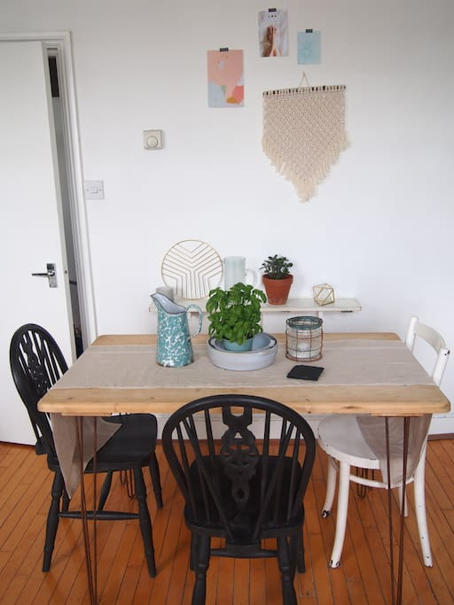 Lovely dining table space