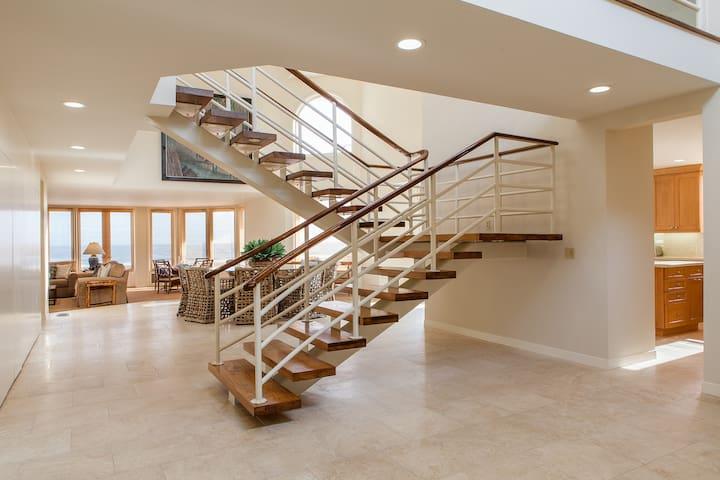 Stylish, Spacious, Beachy Oceanfront Luxury Home