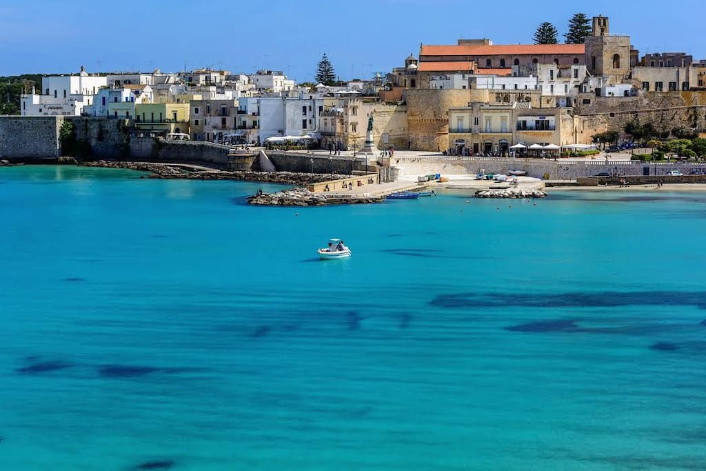 The town of Otranto and sea, few minutes walk from the villa