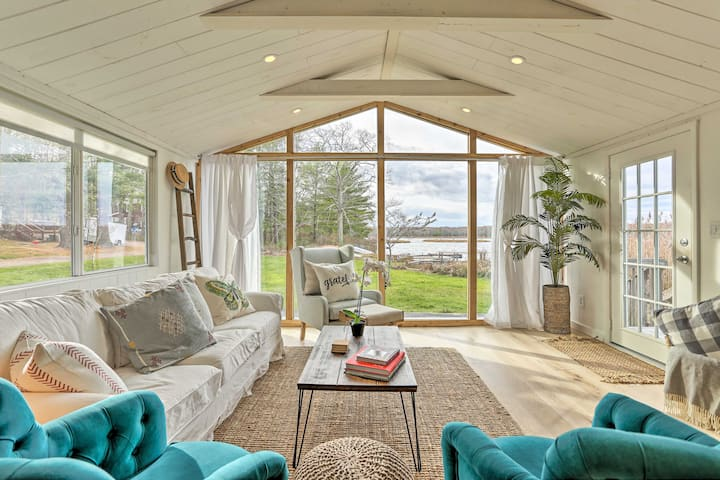 NEW! Airy Waterfront Escape w/ Dock & Paddle Boat!