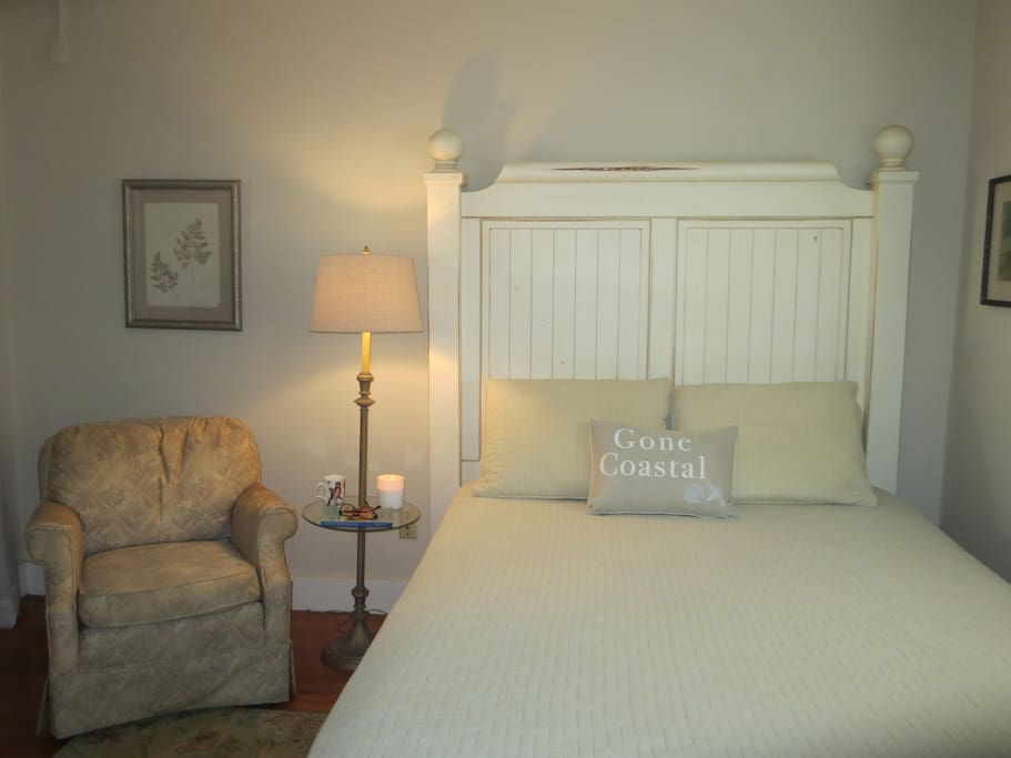 The Reef Suite is a two-room suite in a private wing of Casa Placita, with a door to the outside, and of course, wifi.