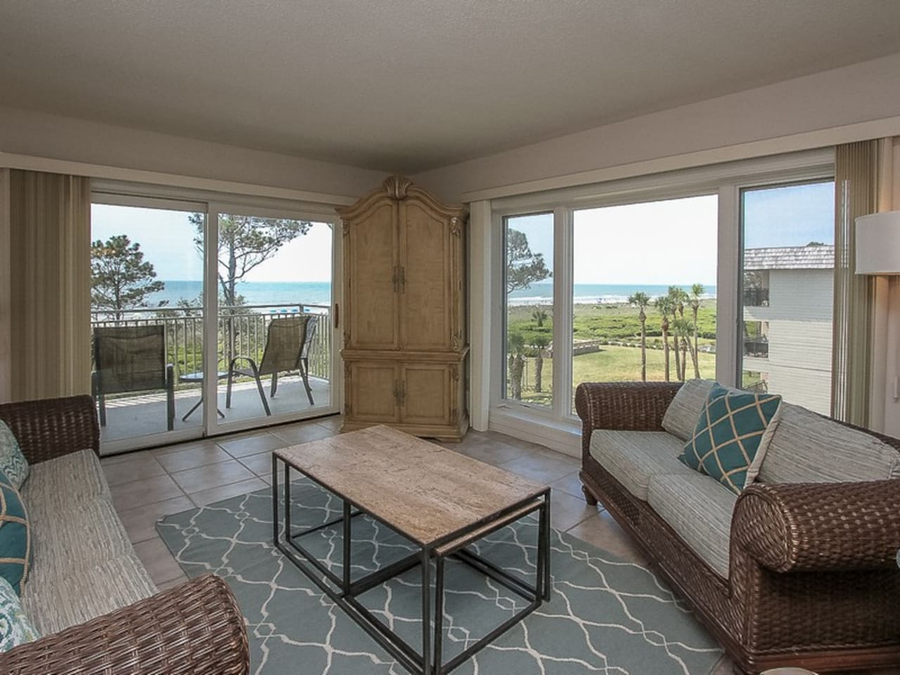 Living Area with Ocean Views from 407 Shorewood
