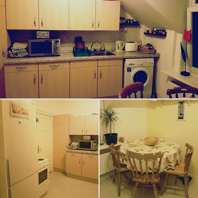 Our kitchen (Me + My guest).  fully equiped kitchen