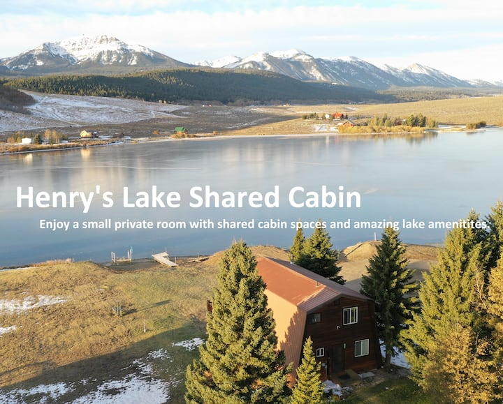 Lakefront Shared Cabin: Yellowstone Room+Kayaks