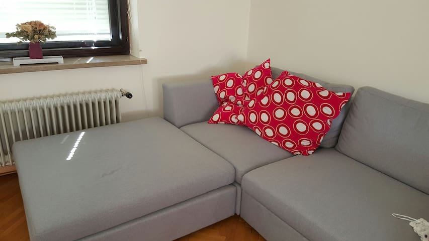 Couch bed,big garden,free parking, - Ljubljana - Casa