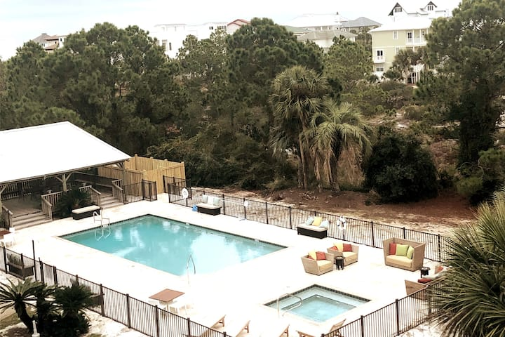 Beach View on 30A + NEW Heated Pool & Hot Tub!