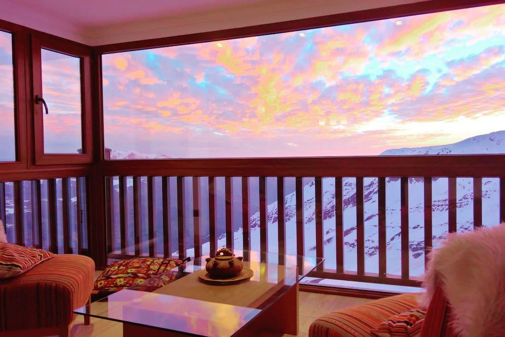 Sunset from the flat / Puesta de sol desde el departamento