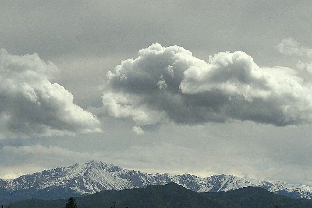 Pikes Peak (from our deck)