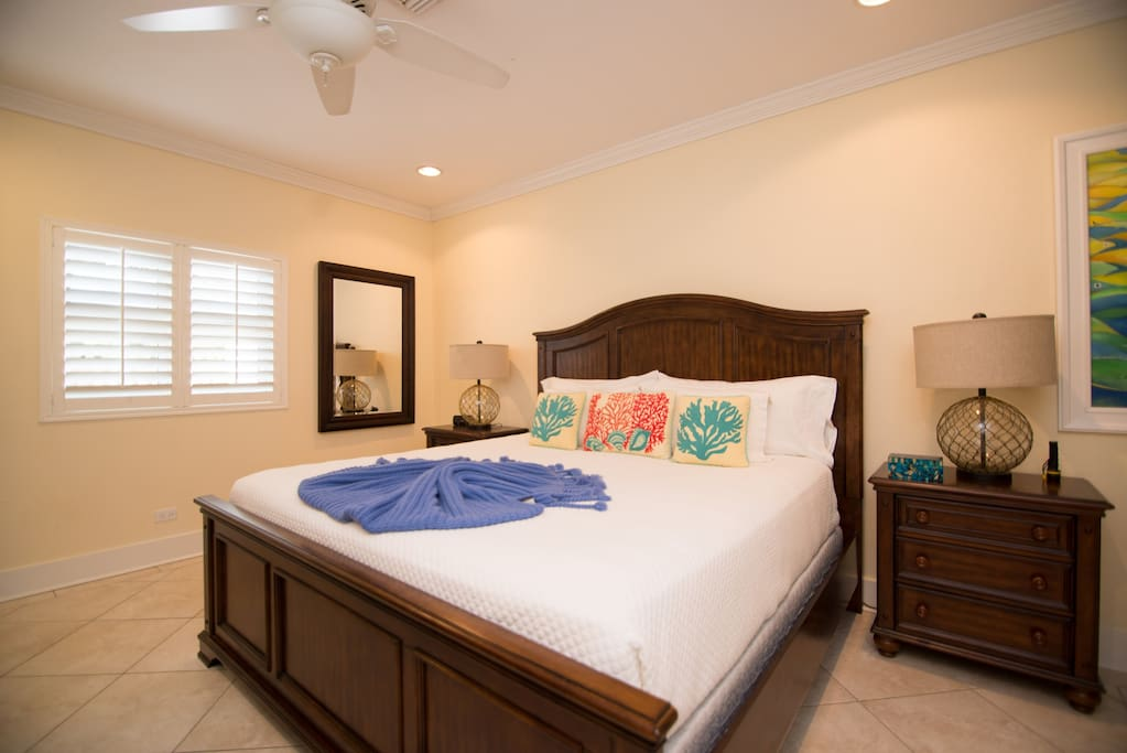 Master bedroom with king-sized bed