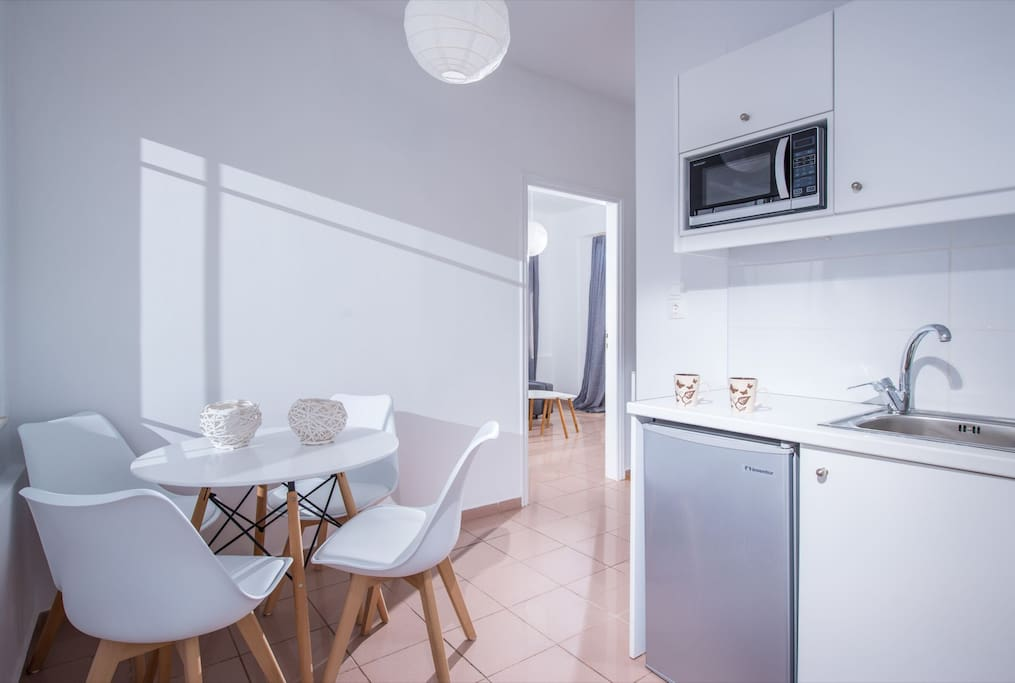 kitchenette with sitting area