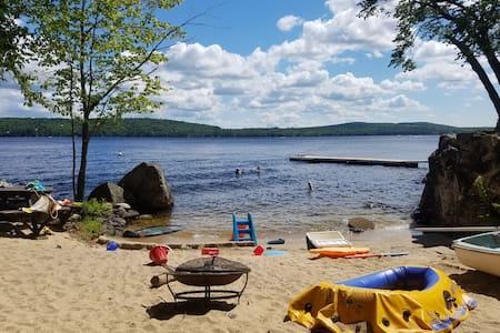 Private Beachfront Long lake escape