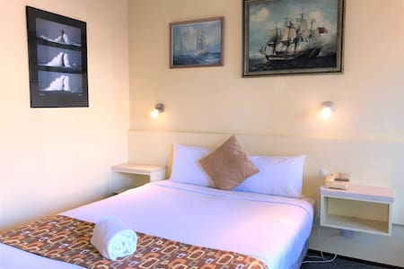 Different themed paintings in each of our rooms