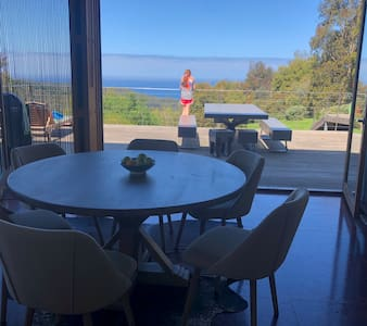 Luxury hilltop ocean views from your Otway forest