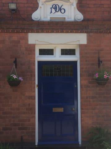 Front door of house built in 1906