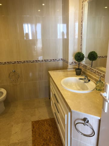 Part of the larger bathroom