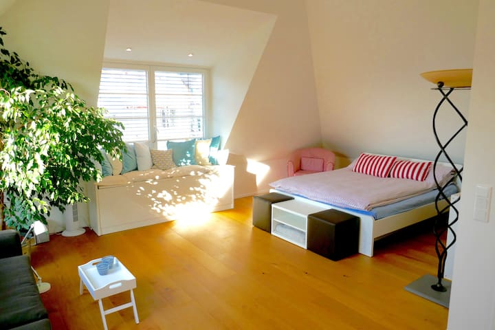 Design Loft Room, 50qm, own bath - Stuttgart - Rumah