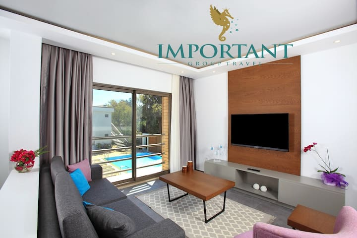 BD299 - 1Bdr Apart with shared pool Ortalent-Yahsi - Bodrum - Boutique-Hotel