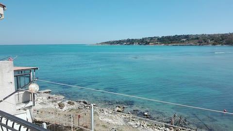 Casa sul mare brucoli hjem med udsigt over havet