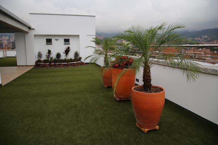 Terraza, salón social
