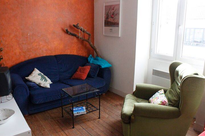 T2 d'artiste, chaleureux et accueillant, av jardin - Nantes - Daire