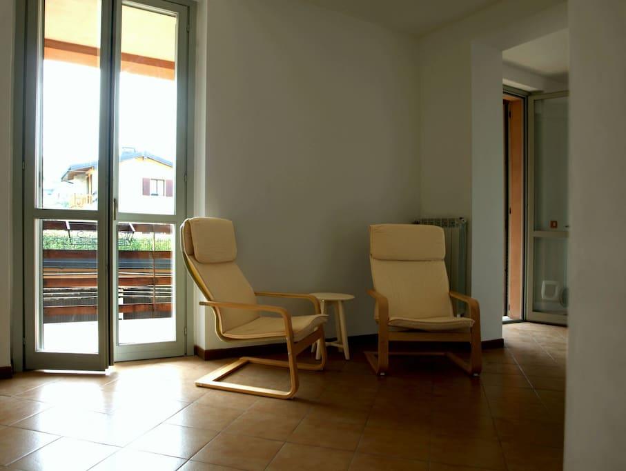 Soggiorno - accesso al terrazzo