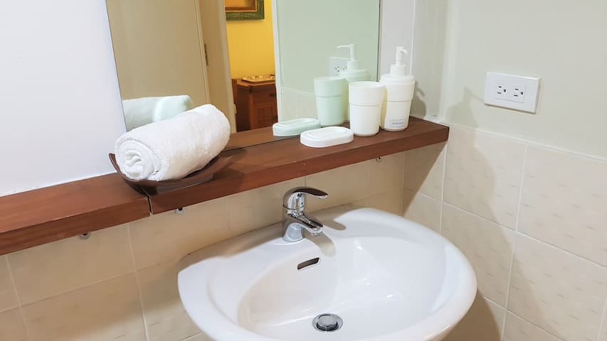 Bathroom 2: Bathroom stocked with essential body foam, shampoo and hand wash for your comfort